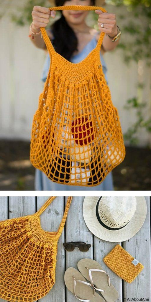 French Market Bag Free Crochet Pattern