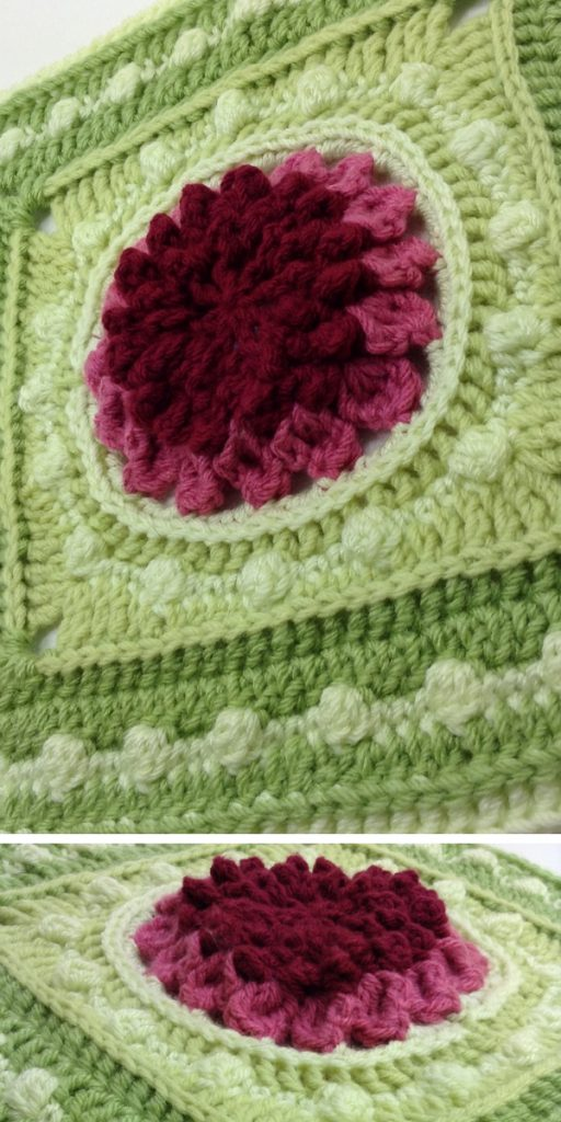 Cheerful Echinacea Square Free Crochet Pattern