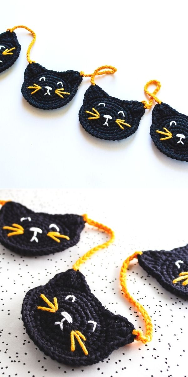 Black Cat Garland
