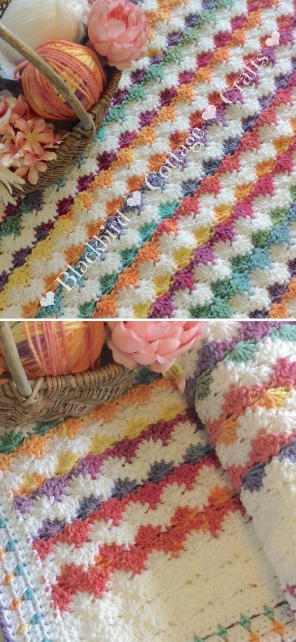 Crochet Interlocking Shell Stitch