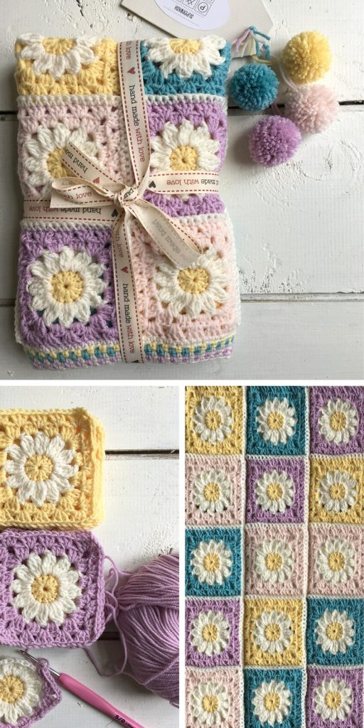 Daisy Travel Blanket Square