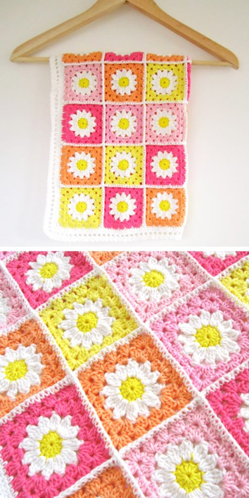 Flower Square Tutorial Crochet Pattern
