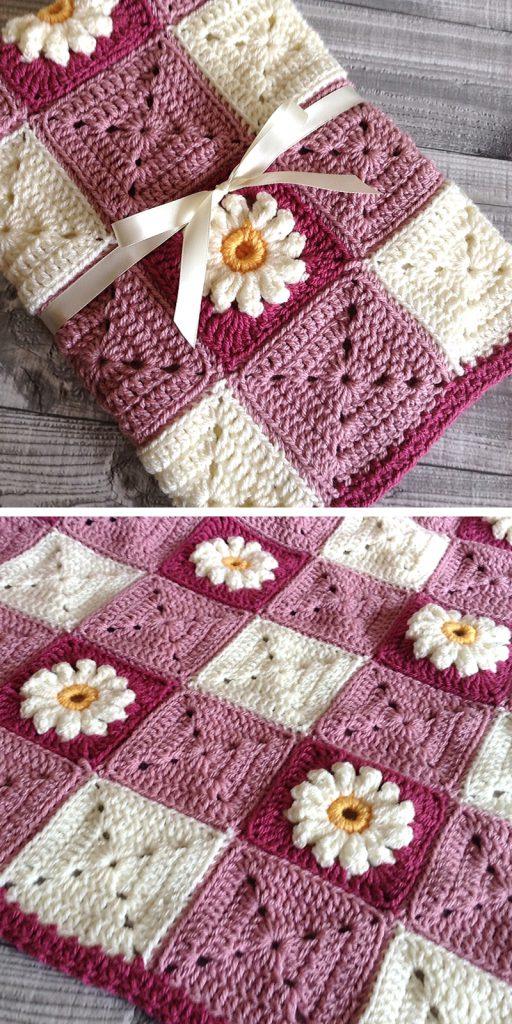 Gingham & Daisies Baby Blanket