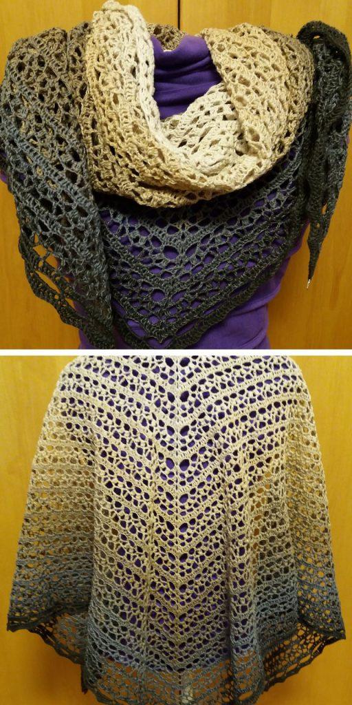 Jardin de Monet Shawl Free Crochet Pattern
