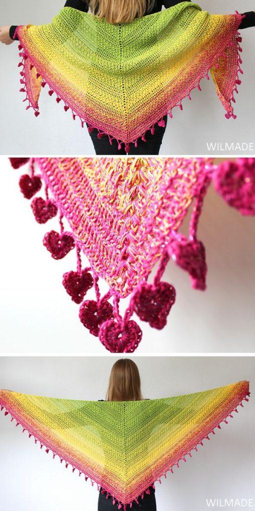 Lovely Luisa Shawl Free Crochet Pattern