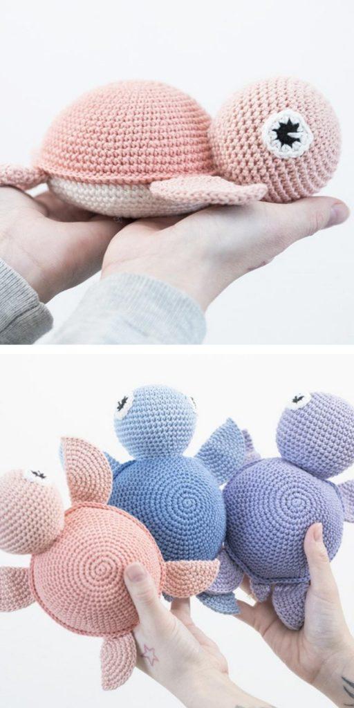 DIY Crocheted turtle