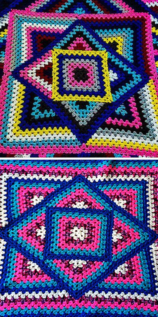 Kaleidoscope Granny Blanket