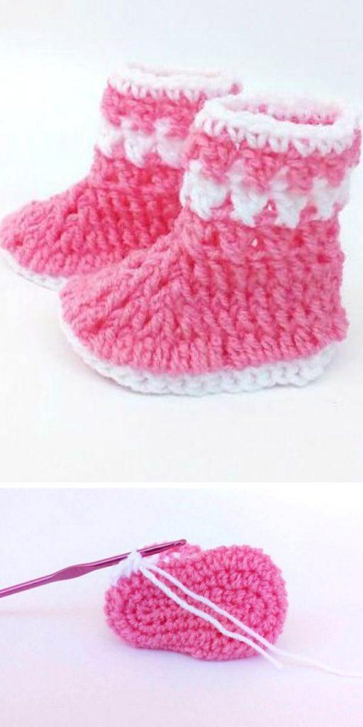 Little Baby Boots Free Crochet Pattern