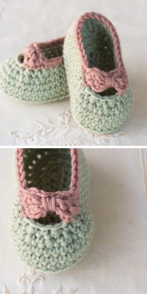 Little Lady Baby Booties Free Crochet Pattern
