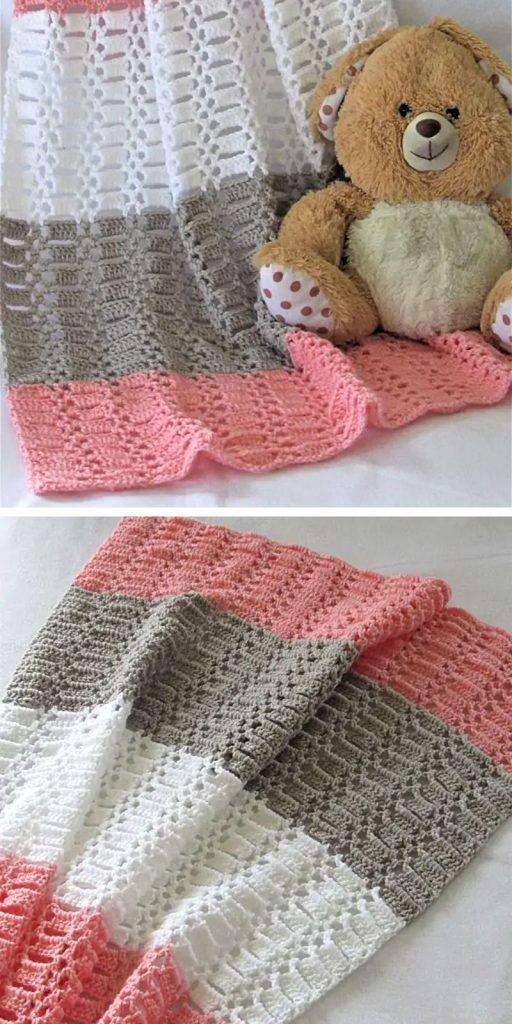 Peek a Boo Blanket Free Crochet Pattern