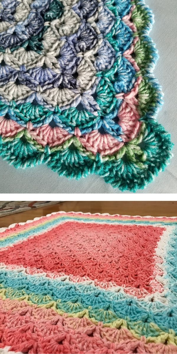 Free Crochet Pattern: Beautiful Shells Blanket