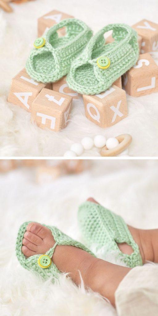 Red Heart Unisex Sandals Free Crochet Pattern