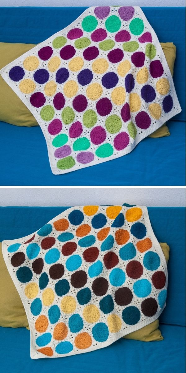 Retro Circles Square Blanket