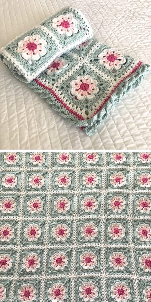 Tea Party Daisy Flower Crochet Pattern