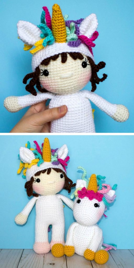Wanda the Crochet Unicorn Doll Free Pattern