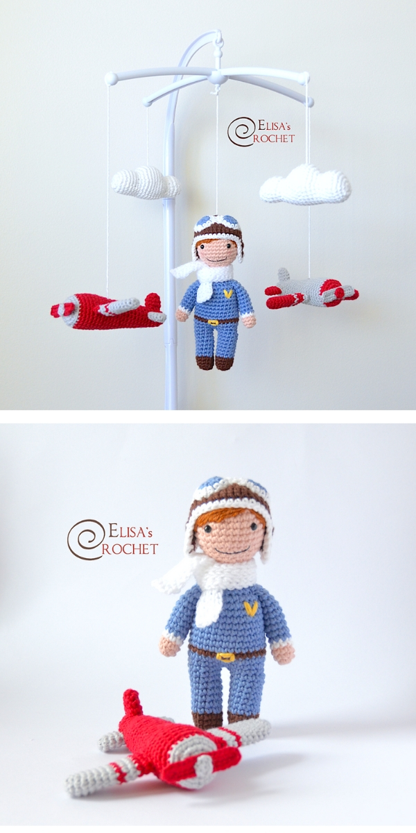 Airplane Mobile Crochet Pattern