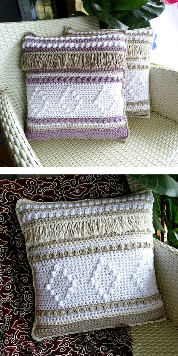 free knitting pattern: Stylish Pillow For Your Home