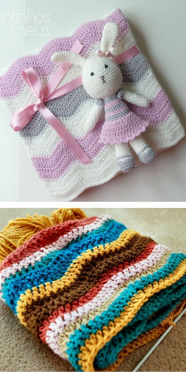 free crochet pattern: Ripple Cozy Blankets