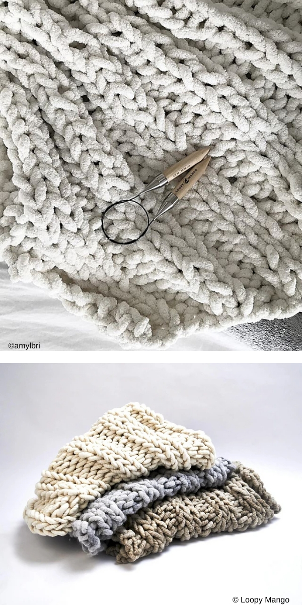 beige knitted blanket on the light background