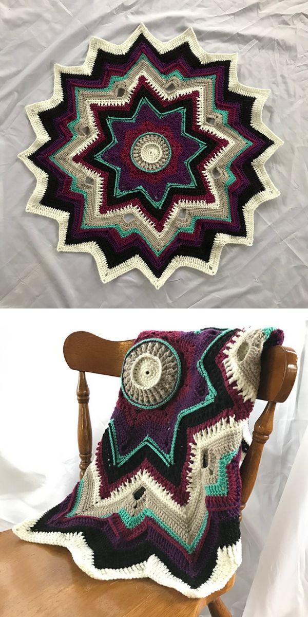 Mini Galaxy of Change Blanket Free Crochet Pattern