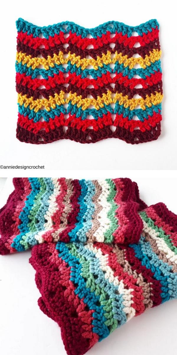Easy Ripple Stitch Free Crochet Pattern
