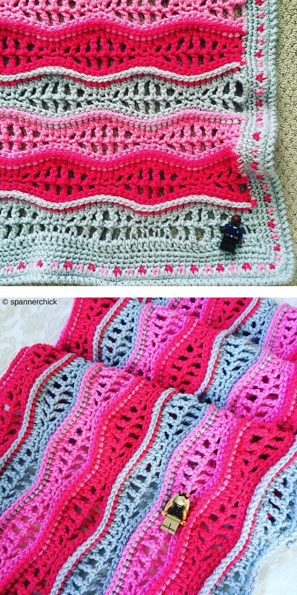 Crochet Ripple Stitch Free Crochet Pattern