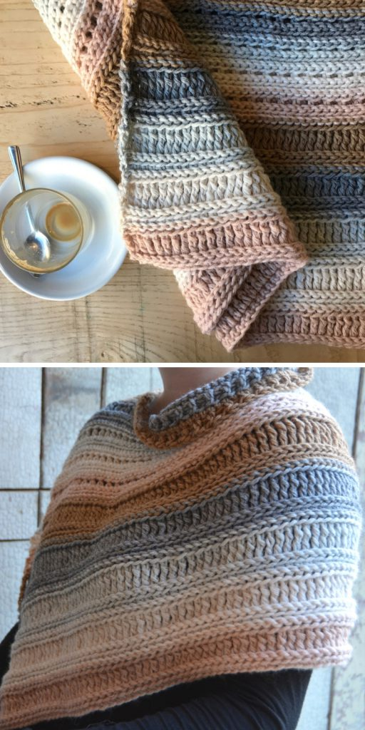 The Coffee Shop Wrap Free Crochet Pattern