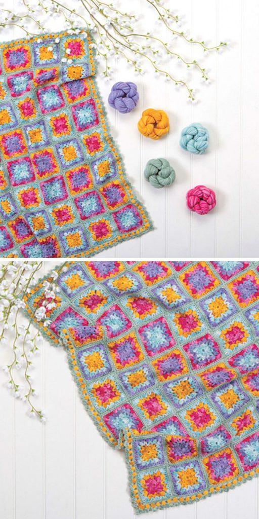 Wildflowers Baby Blanket Free Pattern