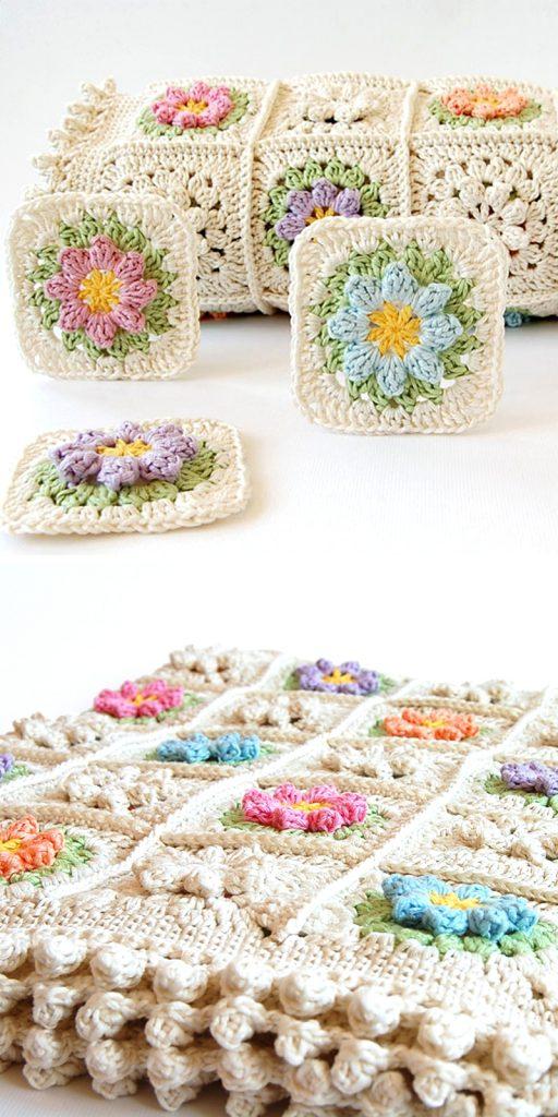 Primavera flowers baby blanket
