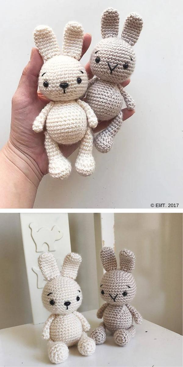 Zipzip Bunny free crochet pattern