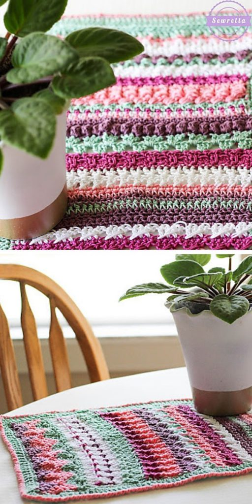 Betty's 20 Stitch Table Runner Free Crochet Pattern