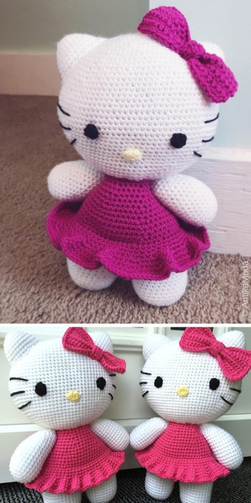Big Hello Kitty Free Crochet Pattern