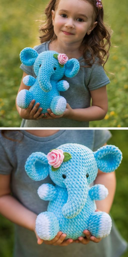 Blue Elephant Crochet Pattern