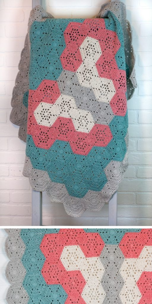 Butterfly Hexagon Baby Blanket Free Crochet Pattern