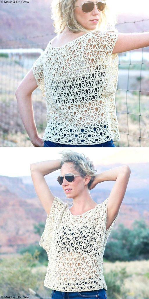 Canyonlands Boho Top Free Crochet Pattern