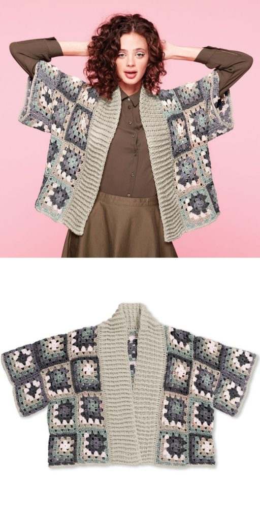 Caron x Pantone Crochet Kimono Cardigan