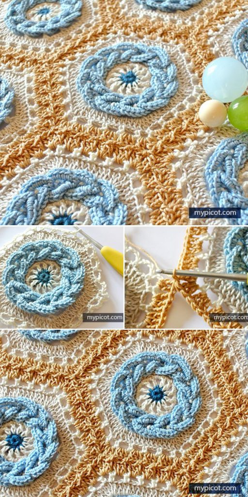 Crochet Cable Hexagon Free Crochet Pattern
