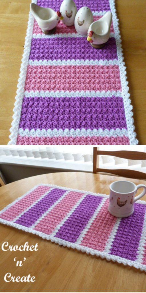Dining Table Runner Crochet Pattern