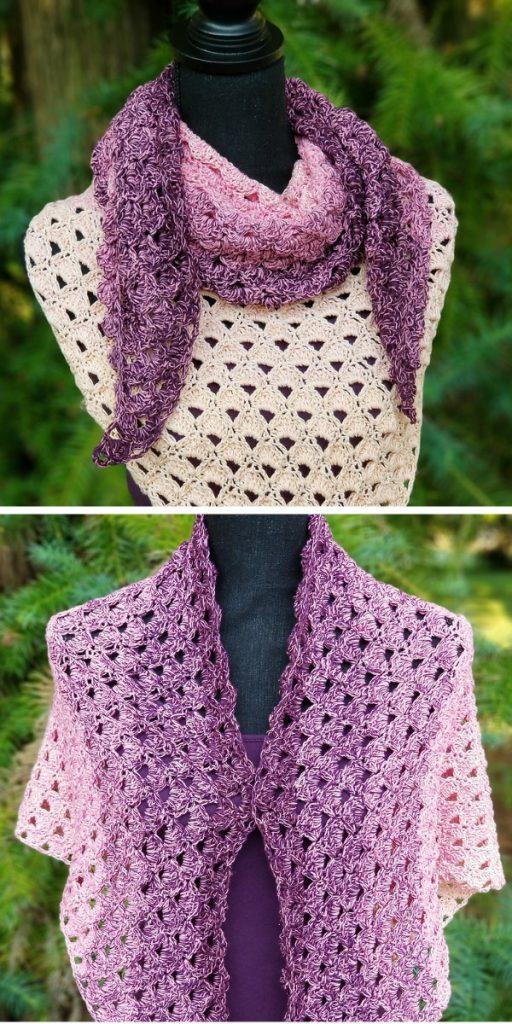 Divine Lotus Shawl Free Crochet Pattern