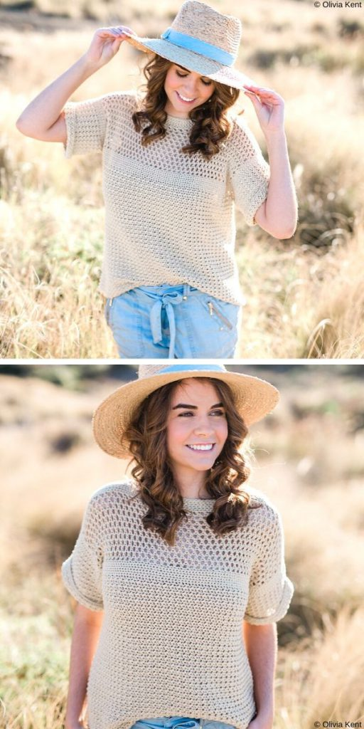 Positano Tee Free Crochet Pattern