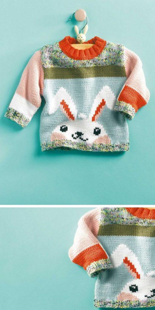 Rabbit Sweater Free Knitting Pattern