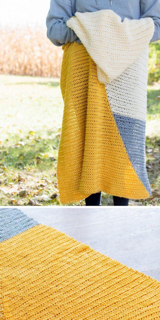 Two Triangle Baby Blanket Free Crochet Pattern