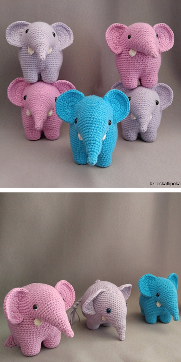 Gustav, the balancing elephant Free Crochet Pattern