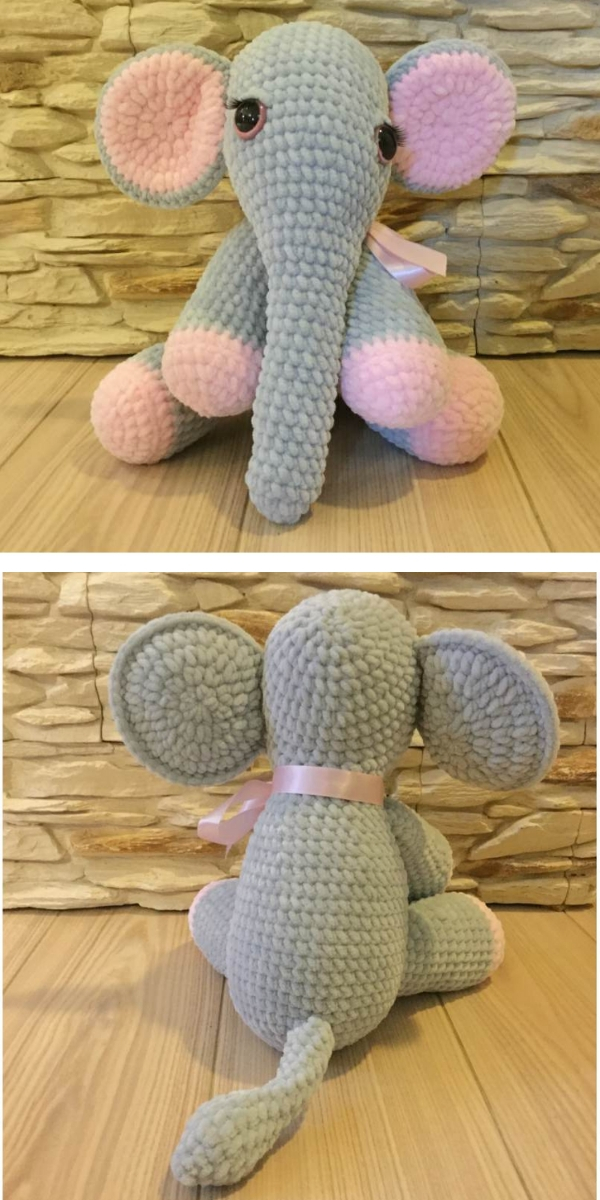 Beautiful Lady Elephant Free Crochet Pattern
