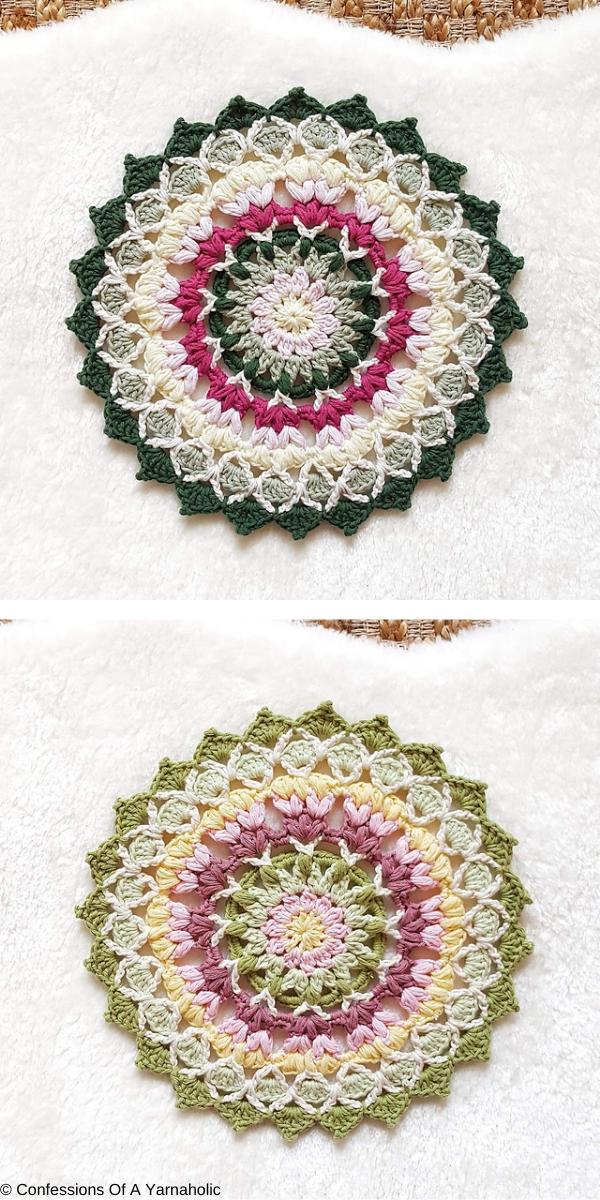 Sweet Posy Mandala free crochet pattern