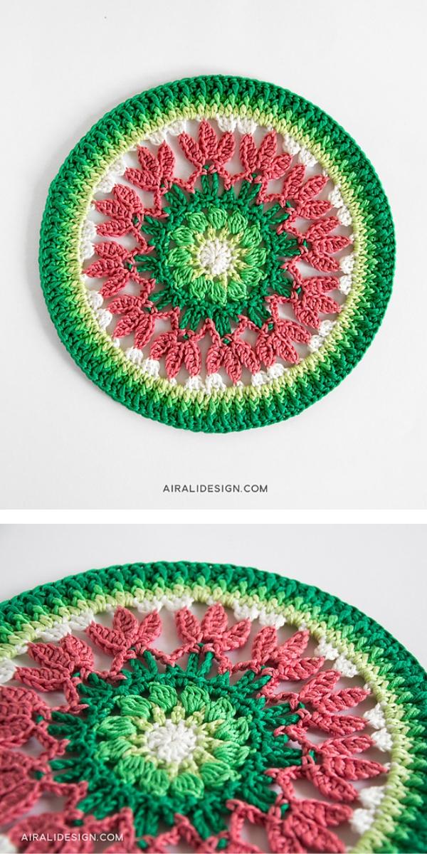 Spring mandala Free Crochet Pattern