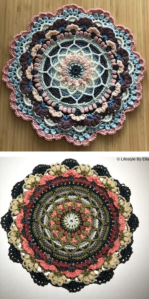 february mandala Free Crochet Pattern