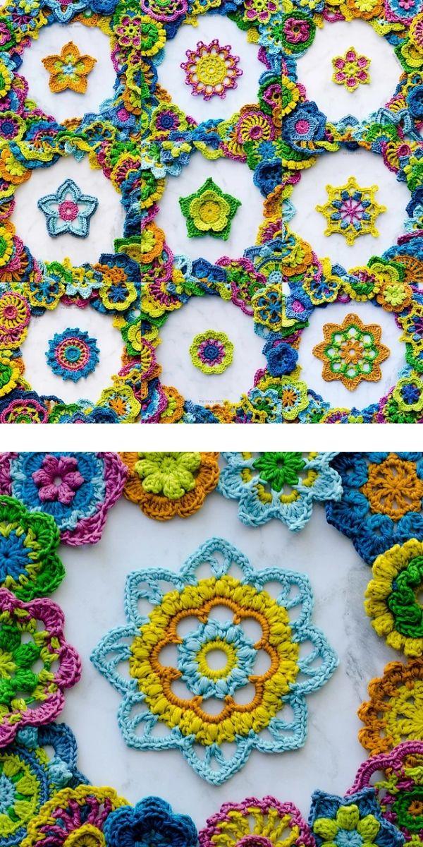 free crochet pattern: 365 Days of Flowers