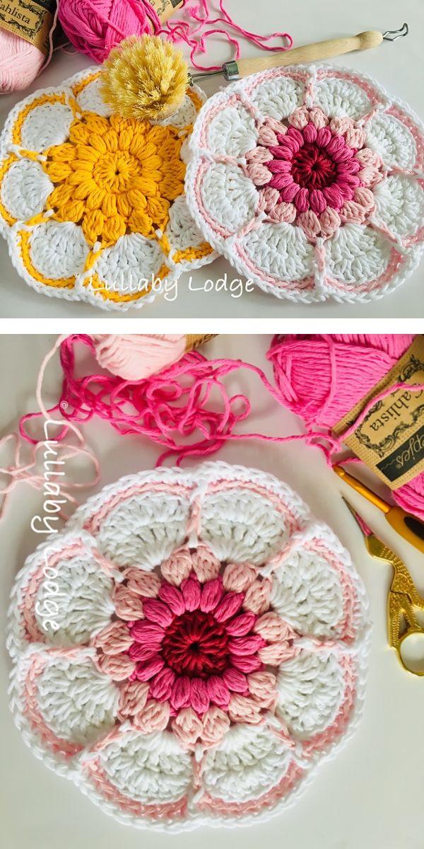 free crochet pattern: Starburst Daisy