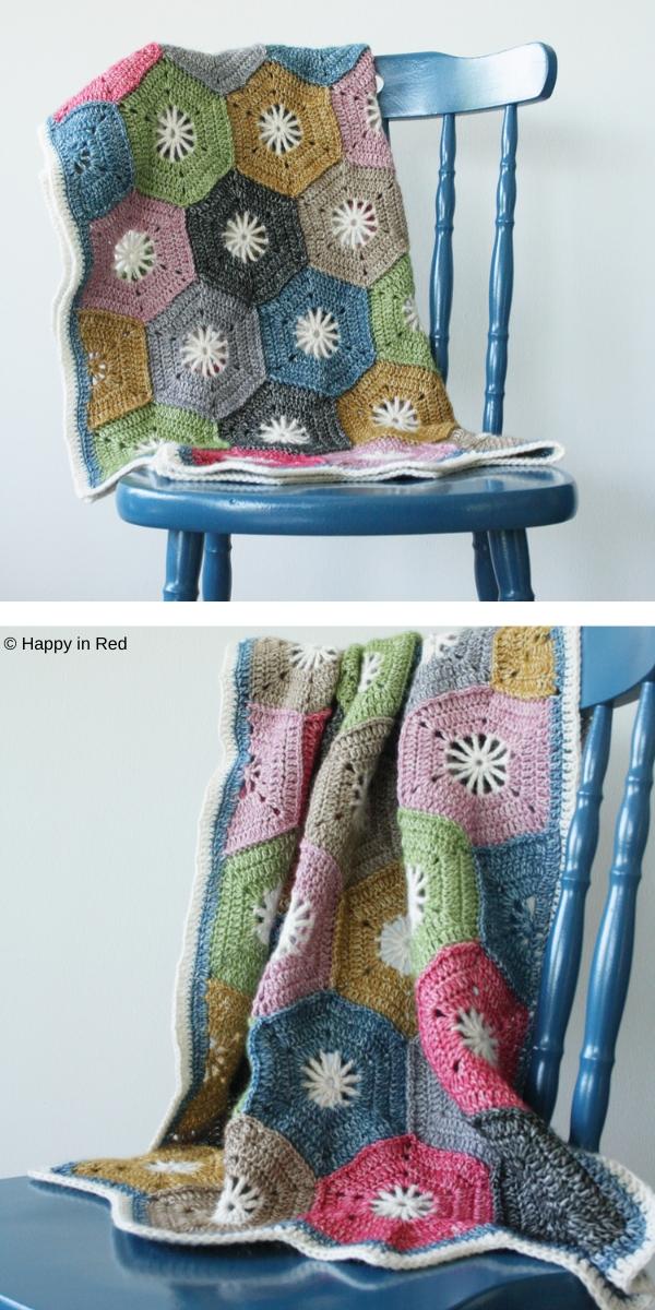 Crochet Hexagon Blanket Free Crochet Pattern